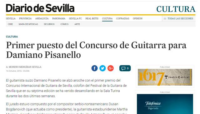 El guitarrista levantino Hugo Moltó Medina se alzó con el tercer premio…